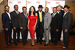 Andre Holland, John Douglas Thompson, Ray Anthony Thomas, Carra Patterson, Anthony Chisholm, Michael Potts, Harvy Blanks, Keith Randolph Smith and Brandon J. Dirden attend August Wilson's 'Jitney' Broadway opening night after party at Copacabana on January 19, 2017 in New York City.