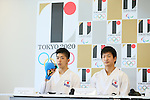 (L to R) <br /> Hiroto Shinohara, <br /> Ryutaro Araga, <br /> AUGUST 7, 2015 : <br /> World Karate Federation (WKF) <br /> holds a media conference following its interview <br /> with the Tokyo 2020 Organising Committee in Tokyo Japan. <br /> (Photo by YUTAKA/AFLO SPORT)