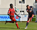 01.08.2017, Silberstadt Arena, Schwaz, AUT, FSP, VfB Stuttgart vs Huddersfield Town AFC, im Bild Chadrac Akolo (Stuttgart #19), Chris L&ouml;we / Loewe (Huddersfield #15)<br /> <br /> Foto &copy; nordphoto / Hafner
