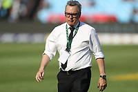 PRETORIA, SOUTH AFRICA - OCTOBER 06: Joe Locke (Media Manager) of the New Zealand (All Blacks) during the Rugby Championship match between South Africa Springboks and New Zealand All Blacks at Loftus Versfeld Stadium. on October 6, 2018 in Pretoria, South Africa. Photo: Steve Haag / stevehaagsports.com