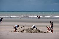 Belgien, Flandern, am Strand von De Panne