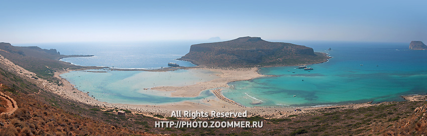 Balos beach (Crete) panoramic photo
