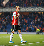19.09.2019 Rangers v Feyenoord: Rick Karsdorp gestures to a section of the Feyenoord fans at full time