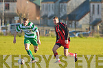 Park's Fergal Maunsell and Killarney Celtic's James O'Donoghue..   Copyright Kerry's Eye 2008