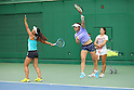 (L to R) <br /> Eri Hozumi, <br /> Misaki Doi, <br /> Nao Hibino (JPN), <br /> JULY 13, 2016 - Tennis : <br /> Training <br /> for Rio Olympic Games in Tokyo, Japan. <br /> (Photo by YUTAKA/AFLO SPORT)