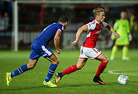 Fleetwood Town's Kyle Dempsey makes a break <br /> <br /> Photographer Andrew Kearns/CameraSport<br /> <br /> The Carabao Cup First Round - Fleetwood Town v Carlisle United Kingdom - Tuesday 8th August 2017 - Highbury Stadium - Fleetwood<br />  <br /> World Copyright &copy; 2017 CameraSport. All rights reserved. 43 Linden Ave. Countesthorpe. Leicester. England. LE8 5PG - Tel: +44 (0) 116 277 4147 - admin@camerasport.com - www.camerasport.com
