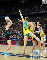 14.10.2017 Silver Ferns Te Paea Selby-Rickit in action during the Constellation Cup netball match between the Silver Ferns and Australia at QudosBank Arena in Sydney. Mandatory Photo Credit ©Michael Bradley.