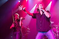 O lendário grupo Kansas, um dos nomes mais respeitados da história do rock mundial, vem ao Brasil para duas apresentações inéditas em São Paulo e no Rio de Janeiro. O grupo norte-americano tocou nesta sexta, dia 21 de novembro, no HSBC Brasil, em São Paulo.<br /> Celebrando 40 inigualáveis anos de carreira, o lendário grupo veio ao Brasil com a seguinte formação. Phil Ehart (bateria), Billy Greer (baixo/vocal), RonniePlatt (teclado/vocal), David Ragsdale (violino/guitarra) e Richard Williams (guitarra).<br /> Foto: Flavio Hopp/Brazil Photo Press