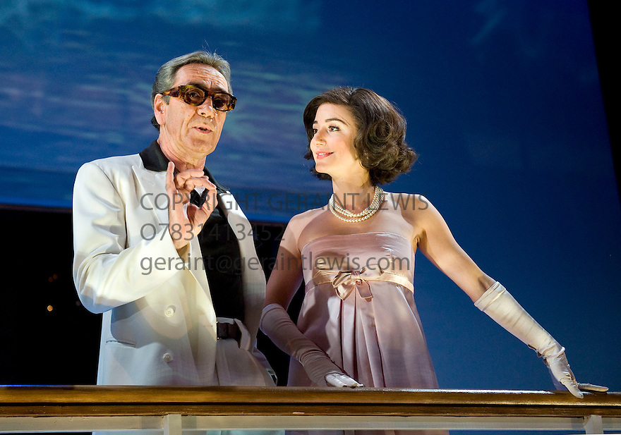 Onassis by Martin Sherman,directed by Nancy Meckler.With Robert Lindsay as Onassis,Lydia Leonard as Jacqueline. Opens at The  Novello Theatre  on 12/10/10 Credit Geraint Lewis