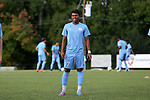 BROWNS SUMMIT, NC - SEPTEMBER 16: North Carolina's Jesus Bolivar. The University of North Carolina Tar Heels hosted the Duke University Blue Devils on September 16, 2017 at Macpherson Stadium in Browns Summit, NC in a Division I college soccer game. UNC won the game 2-1.