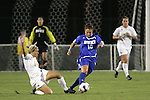 7 November 2007: Duke's CJ Ludemann (10) avoids a tackle from Wake Forest's Laura Colven (24). Wake Forest University defeated Duke University 1-0 in overtime at the Disney Wide World of Sports complex in Orlando, FL in an Atlantic Coast Conference tournament quarterfinal match.
