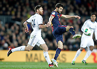FC Barcelona's Cesc Fabregas (r) and Real Madrid's Xabi Alonso during Copa del Rey - King's Cup semifinal second match.February 26,2013. (ALTERPHOTOS/Acero) /Nortephoto