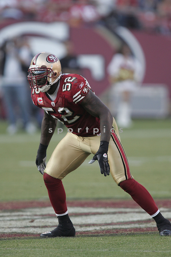 PATRICK WILLIS, of the San Francisco 49ers  in action against the St. Louis Ram during the 49ers game in San Francisco, California on November 16, 2008..49ers win 35-16
