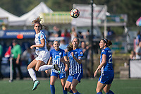 Allston, MA - Saturday August 19, 2017: Alex Morgan, Julie King, Christen Westphal during a regular season National Women's Soccer League (NWSL) match between the Boston Breakers and the Orlando Pride at Jordan Field.