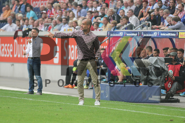 FC Bayern Muenchens Trainer Josep Guardiola dirigiert von der Seite beim Testspiel MSV Duisburg - FC Bayern Muenchen.<br /> <br /> Foto &copy; Rhein-Neckar-Picture *** Foto ist honorarpflichtig! *** Auf Anfrage in hoeherer Qualitaet/Aufloesung. Belegexemplar erbeten. Veroeffentlichung ausschliesslich fuer journalistisch-publizistische Zwecke. For editorial use only.