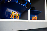 Midland RockHounds gear on May 4, 2019, at Arvest Ballpark in Springdale, Arkansas. (Jason Ivester/Four Seam Images)