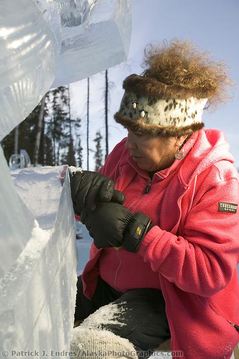Ice Sculptor, Multi block 2004 World Ice Art Championships, Fairbanks Alaska.