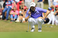 Matthew Fitzpatrick (ENG) on the 5th green during Sunday's Final Round 4 of the 2018 Omega European Masters, held at the Golf Club Crans-Sur-Sierre, Crans Montana, Switzerland. 9th September 2018.<br /> Picture: Eoin Clarke | Golffile<br /> <br /> <br /> All photos usage must carry mandatory copyright credit (&copy; Golffile | Eoin Clarke)