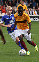 Zaine Francis-Angol  chased by Steven Naismith in the Motherwell v Everton friendly match at Fir Park, Motherwell on 21.7.12 for Steven Hammell's Testimonial.
