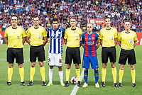 Deportivo Alaves's forward Christian Santos and FC Barcelona's midfielder Andres Iniesta during Copa del Rey (King's Cup) Final between Deportivo Alaves and FC Barcelona at Vicente Calderon Stadium in Madrid, May 27, 2017. Spain.<br /> (ALTERPHOTOS/BorjaB.Hojas) /NortePhoto.com
