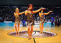 The Big Girls perform at halftime during game two of the NBL Final basketball match between the Wellington Saints and Waikato Pistons at TSB Bank Arena, Wellington, New Zealand on Friday 20 June 2008. Photo: Dave Lintott / lintottphoto.co.nz