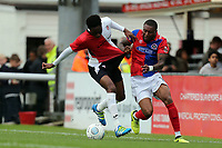 Morgan Ferrier of Dagenham and Jordan Wynter of Woking during Woking vs Dagenham & Redbridge, Vanarama National League Football at The Laithwaite Community Stadium on 7th October 2017