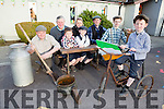 Darragh O'riordan  on his bike for Ballyduff Tidy Village group who are putting together a book to celebrate the 1916 Rising launching the book front l-r: Stuart Kelly, Patrick O'Riordan, Lee Kelly, back Pat mcCarthy, Diane Healy and Shane O'Riordan