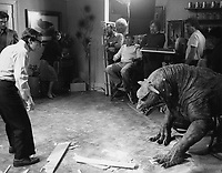 Ghostbusters (1984) <br /> Behind the scenes photo of Rick Moranis<br /> *Filmstill - Editorial Use Only*<br /> CAP/KFS<br /> Image supplied by Capital Pictures