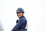 Zara Tindall riding Class Affair. GBR. In the rain. Advanced. Section O. Showjumping. Barefoot Retreats Burnham Market International Horse Trials. Eventing. Burnham Market. Norfolk. United Kingdom. GBR. {13}/{04}/{2019}.