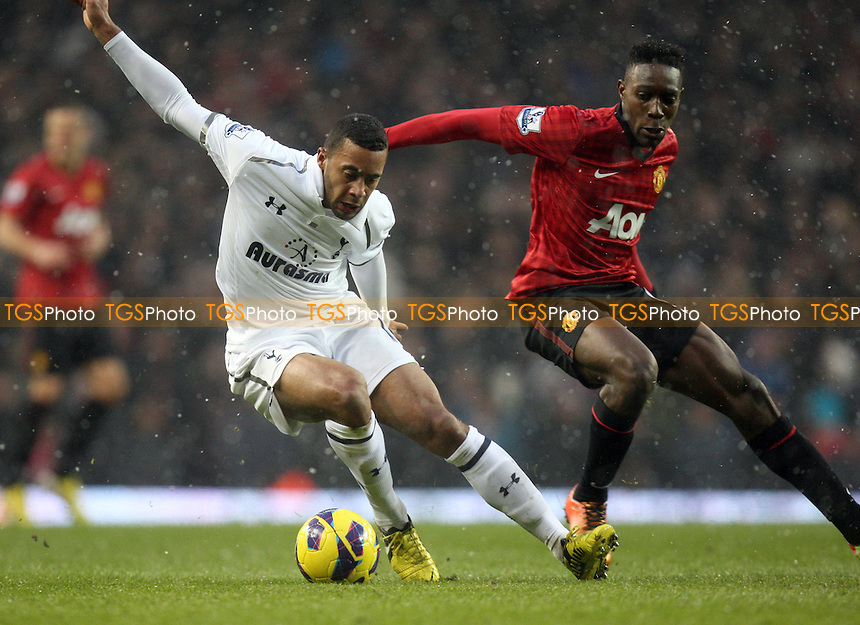 Danny Welbeck of Manchester United and Mousa Dembele of Tottenham Hotspur - Tottenham Hotspur vs Manchester United at the White Hart Lane Stadium - 20/01/13 - MANDATORY CREDIT: Dave Simpson/TGSPHOTO - Self billing applies where appropriate - 0845 094 6026 - contact@tgsphoto.co.uk - NO UNPAID USE.