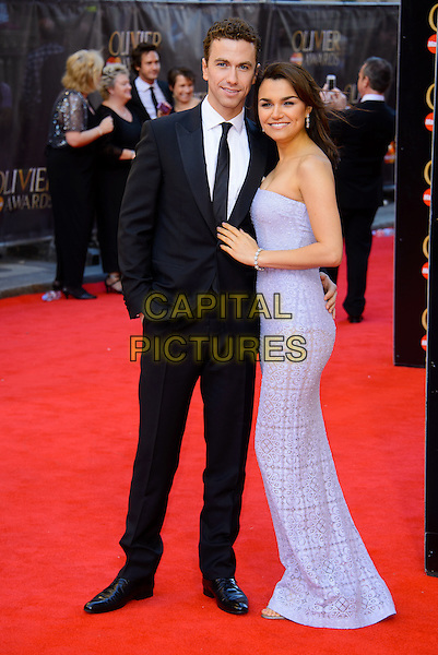 LONDON, ENGLAND - APRIL 13: Samantha Barks attends the Olivier Awards 2014 at the Royal Opera House on April 13, 2014 in London, England. <br /> CAP/CJ<br /> &copy;Chris Joseph/Capital Pictures