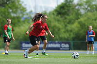 Natasha Harding of Wales Women during the Wales Women Training Session at the Cardiff International Sports Stadium in Cardiff, Wales, UK. Monday 03 June 2019