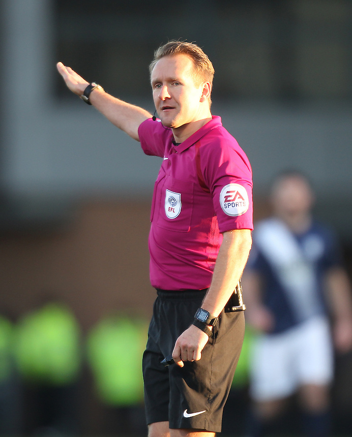 Referee Oliver Langford<br /> <br /> Photographer Mick Walker/CameraSport<br /> <br /> The EFL Sky Bet Championship - Burton Albion v Preston North End - Monday 2nd January 2017 - Pirelli Stadium - Burton upon Trent<br /> <br /> World Copyright &copy; 2017 CameraSport. All rights reserved. 43 Linden Ave. Countesthorpe. Leicester. England. LE8 5PG - Tel: +44 (0) 116 277 4147 - admin@camerasport.com - www.camerasport.com