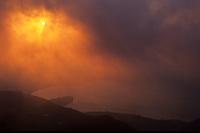 Sunrise over Caldeira de Sete Cidades, ilha de Sao Miguel, Açores, 1998.