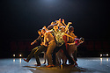 Ipswich, UK. 15.02.2014. Luca Silvestrini's PROTEIN present BORDER TALES at Dance East, Jerwood DanceHouse. Picture shows:  Eryck Brahmania, Stuart Waters, Kenny Wing Tao Ho, Stephen Moynihan (facing front) and the company. Photograph © Jane Hobson.