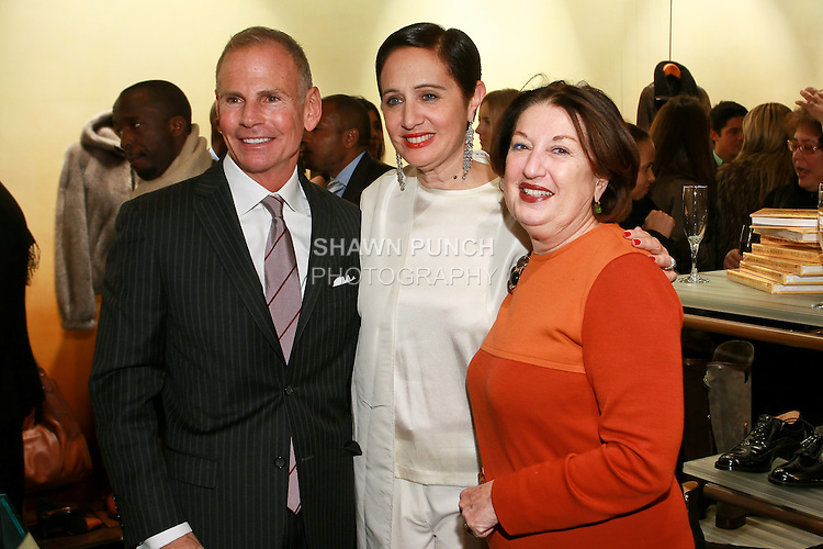 "Mark Wolk, Rebecca Moses, and Nicole Fischelis at the Rebecca Moses ""A Life of Style"" book signing at Fratelli Rossetti Boutique, November 11, 2010."