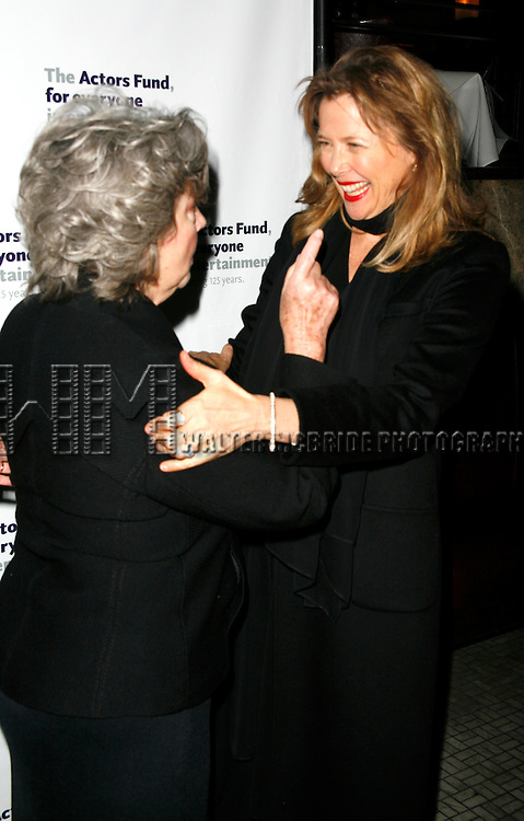 Zoe Caldwell & Annette Bening.attending the After Party at Bond 45 Restaurant for The Actors Fund One Night Only Benefit of ALL ABOUT EVE at the Eugene O'Neill Theatre in New York City..November 10, 2008.© Walter McBride /