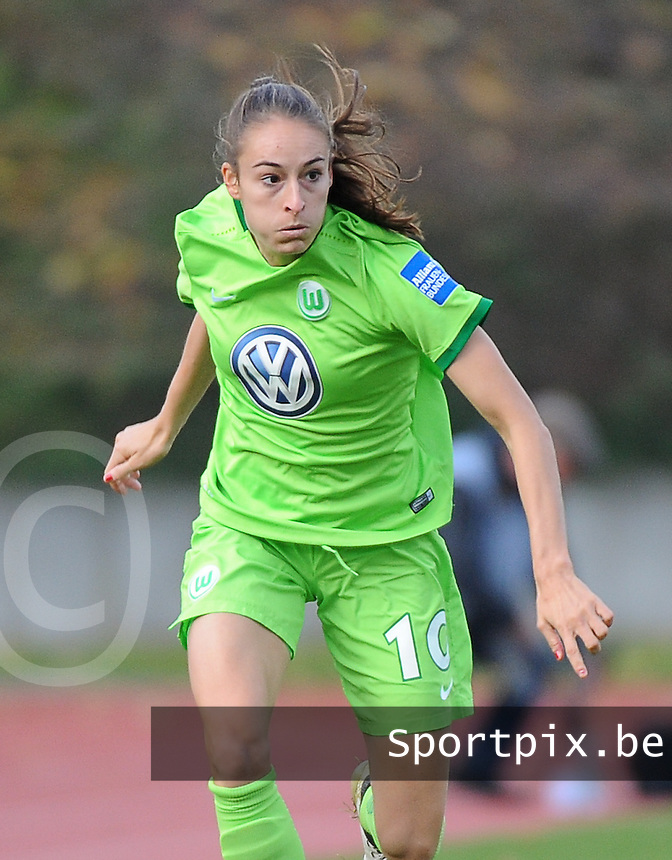 20161105 - MOENCHENGLADBACH , GERMANY : Wolfsburg's Tessa Wullaert pictured during an Allianz Frauen Bundesliga game between Borussia Mönchengladbach and Vfl Wolfsburg during the 7th spieltag - game for the 2016-2017 Allianz Frauen-Bundesliga season , Saturday 5 th November 2016 ,  PHOTO Dirk Vuylsteke | Sportpix.Be