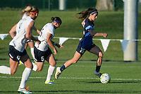 Kansas City, MO - Saturday July 16, 2016: Erika Tymrak, Whitney Church during a regular season National Women's Soccer League (NWSL) match between FC Kansas City and the Washington Spirit at Swope Soccer Village.