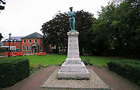 A statue remembering the war fallen in Llandrindod Wells in Powys, mid Wales, UK