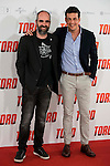"""Luis Tosar and Mario Casas attends to the presentation of the spanish film """"Toro"""" at Hotel Hesperia in Madrid, April 19,2016. (ALTERPHOTOS/Borja B.Hojas)"""
