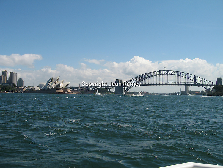 Sydney Opera House & Bridge from Sydney Harbour