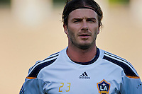 LOS ANGELES, CA – July 16, 2011: David Beckham (23) of the LA Galaxy during the match between LA Galaxy and Real Madrid at the Los Angeles Memorial Coliseum in Los Angeles, California. Final score Real Madrid 4, LA Galaxy 1.