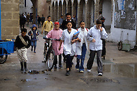 Essaouira, Morocco - Children Going to School