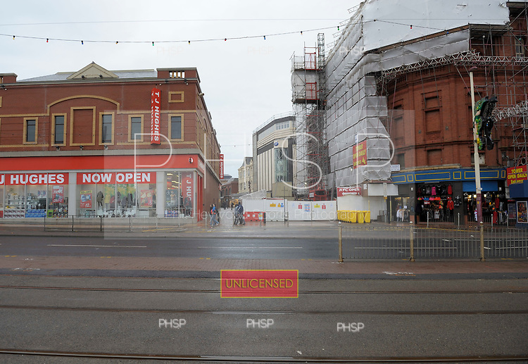 TJ Hughes store, Victoria Street/Promemade junction Blackpool lancashire Uk......© Phill Heywood.