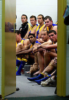 AFL 2'nd elimination final at Telstra Stadium 4/9/08 Sydney v West Coast    Eagles listen to adresses in an ante room. -  pic by Trevor Collens