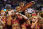 MILWAUKEE, WI - MARCH 18: The Iowa State Cyclones student band plays during the second half of the 2017 NCAA Men's Basketball Tournament held at BMO Harris Bradley Center on March 18, 2017 in Milwaukee, Wisconsin. (Photo by Jamie Schwaberow/NCAA Photos via Getty Images)