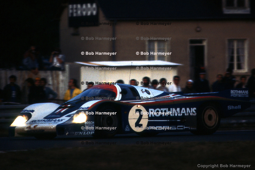 LE MANS, FRANCE: The Porsche 956 003 driven by Jochen Mass and Vern Schuppan to 2nd place in the 1982 24 Hours of Le Mans on June 20, 1982, at Circuit de la Sarthe in Le Mans, France.