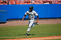 Dartmouth Big Green designated hitter Blake Crossing (13) running the bases during a game against the Bradley Braves on March 21, 2019 at Chain of Lakes Stadium in Winter Haven, Florida.  Bradley defeated Dartmouth 6-3.  (Mike Janes/Four Seam Images)