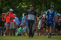Bubba Watson (USA) heads down 18 during Round 2 of the Zurich Classic of New Orl, TPC Louisiana, Avondale, Louisiana, USA. 4/27/2018.<br /> Picture: Golffile | Ken Murray<br /> <br /> <br /> All photo usage must carry mandatory copyright credit (&copy; Golffile | Ken Murray)